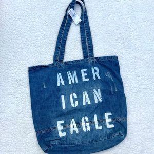AMERICAN EAGLE NWT Distressed Denim Shoulder Bag